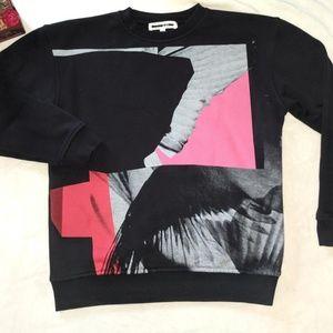 Alexander McQueen MCQ Black Abstract Sweatshirt XS